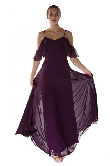 6ixty8ight Uzun Abiye Elbise Mor